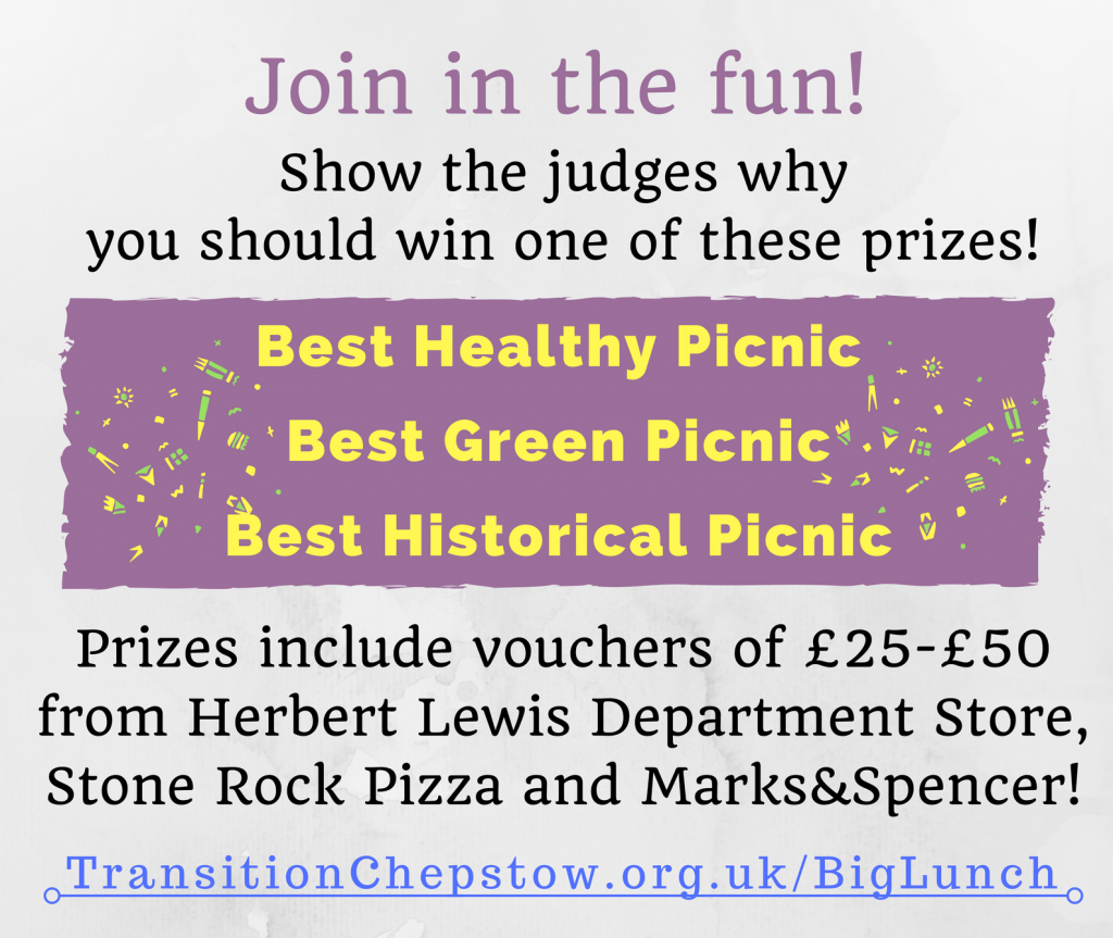 Join in the fun! Prizes to be won: Best Healthy Picnic, Best Green Picnic, Best Historical Picnic.